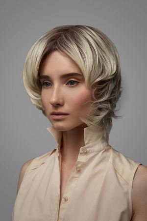 Kurze haare strähnen braune mit Strähnen in